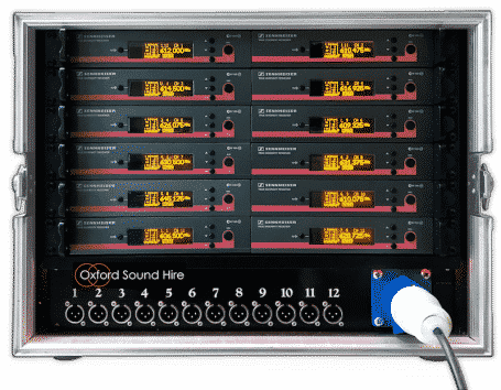 Multi Channel wireless system with 12 receivers for hire