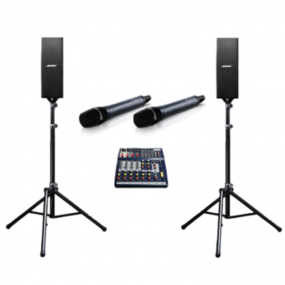 PA System with Wireless Microphones