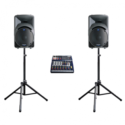 Cheap speaker hire from Mackie speaker system for small events and a party